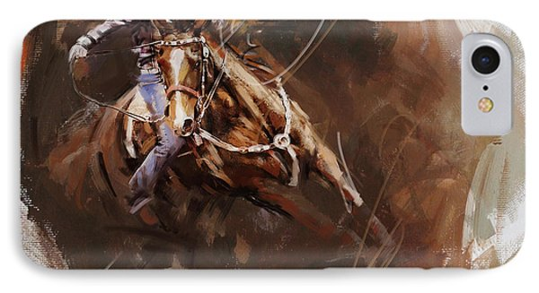 Classic Rodeo 8 IPhone Case by Maryam Mughal
