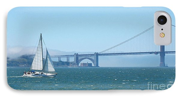 Classic San Francisco Bay IPhone Case by Connie Fox