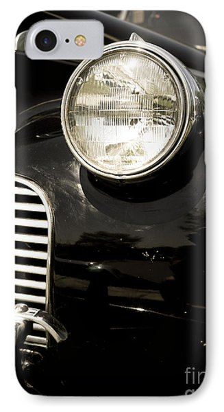 Classic Vintage Car Black And White IPhone Case by Edward Fielding
