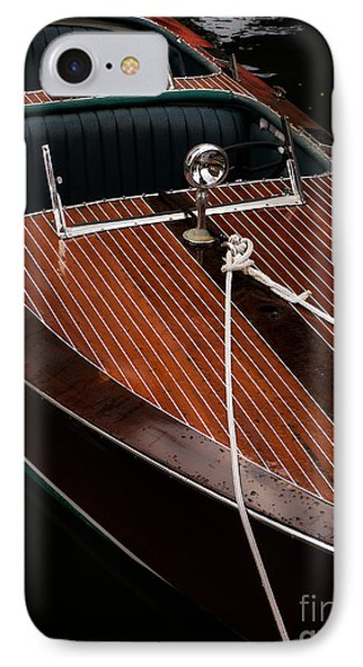 Classic Wooden Power Boat IPhone Case