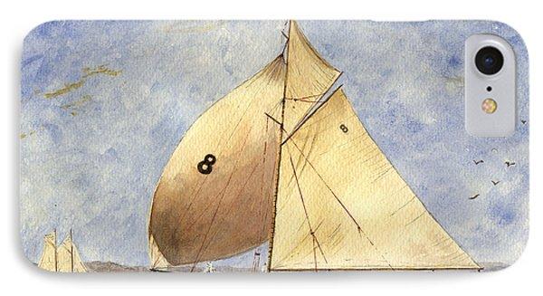 Classic Yacht Barcelona IPhone Case by Juan  Bosco