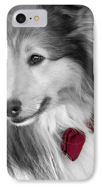 Classy Red Phone Case by Loriental Photography