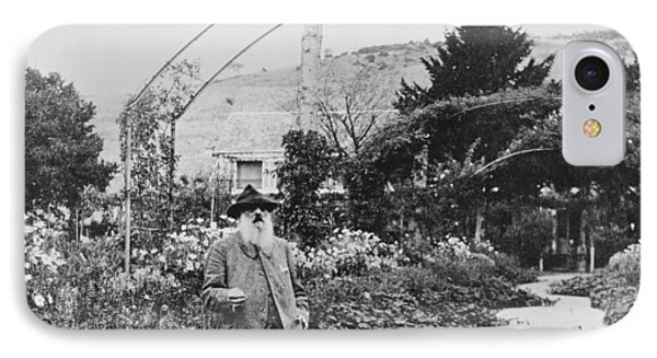 Claude Monet In His Garden At Giverny IPhone Case by French School