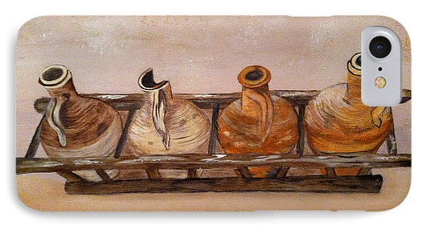 Clay Jugs In A Row IPhone Case