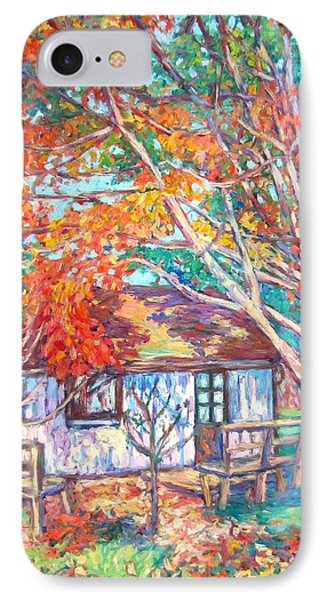 Claytor Lake Cabin In Fall IPhone Case by Kendall Kessler