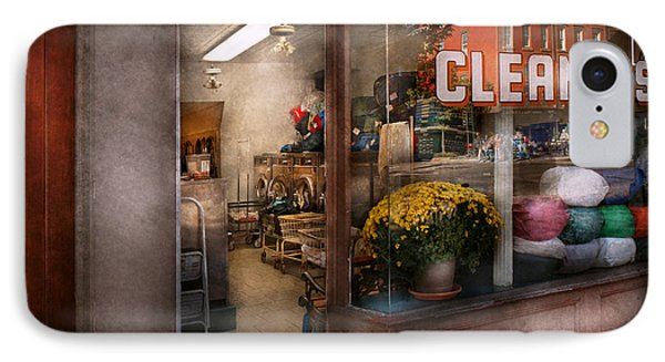 Cleaner - Ny - Chelsea - The Cleaners IPhone Case by Mike Savad