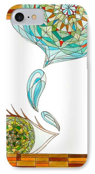 IPhone Case featuring the drawing Cleansing Tears by Dianne Levy