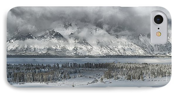Clearing Skies In The Grand Tetons IPhone Case by Sandra Bronstein