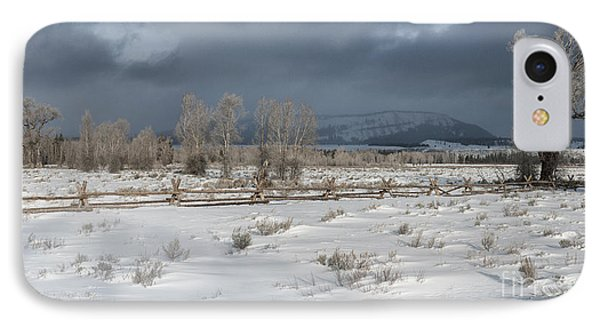 Clearing Storm In The Tetons Phone Case by Sandra Bronstein