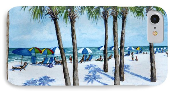 Clearwater Beach Morning IPhone Case by Penny Birch-Williams