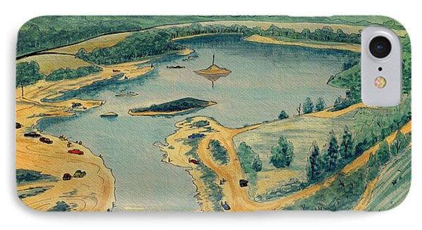 IPhone Case featuring the painting Clearwater Lake Early Days by Kip DeVore
