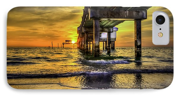 Clearwater Pier IPhone Case by Marvin Spates