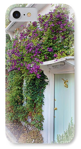 Clematis Around The Door IPhone Case by Terri Waters