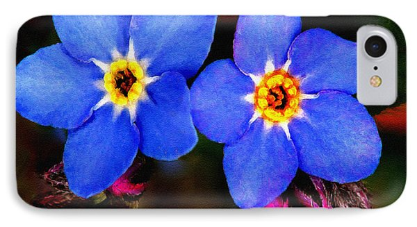 Clematis Flowers Phone Case by Bob and Nadine Johnston
