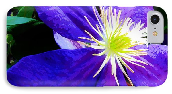 IPhone Case featuring the photograph Clematis In Watercolor by John Freidenberg