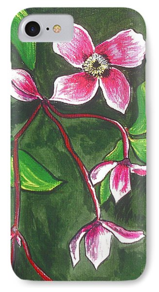 Clematis Montana Rubins IPhone Case by Kathy Spall
