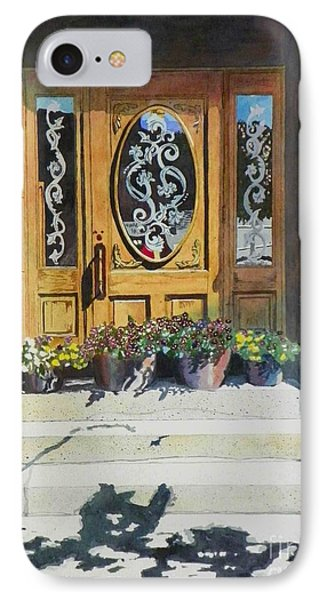 IPhone Case featuring the painting Clementines Door by LeAnne Sowa