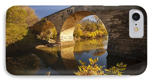 Clements Stone Arch Bridge IPhone Case by Scott Bean