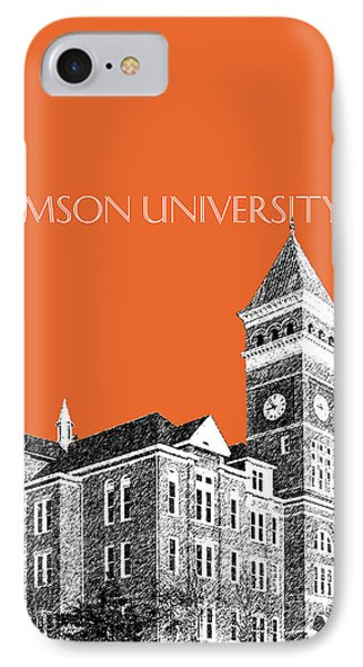 Clemson University - Coral IPhone 7 Case by DB Artist