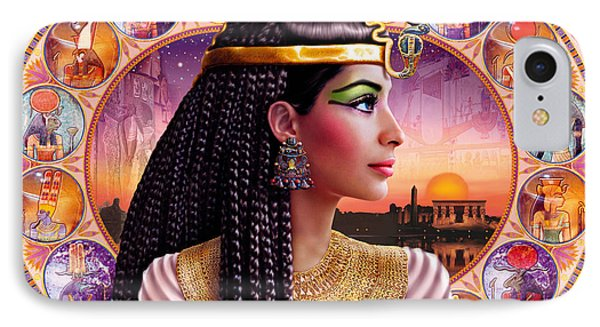 Cleopatra Variant 3 IPhone Case by Andrew Farley