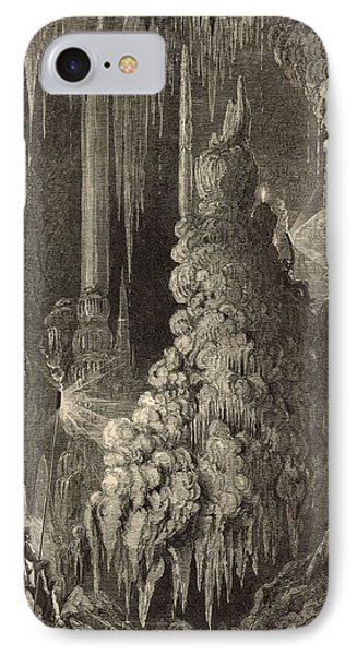 Cleopatra's Needle And Anthony's Pillar 1872 Engraving IPhone Case by Antique Engravings