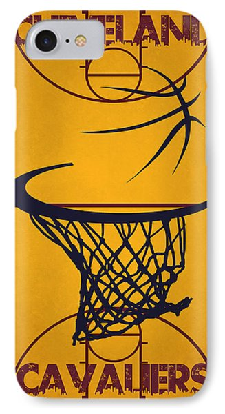 Cleveland Cavaliers Court IPhone Case by Joe Hamilton