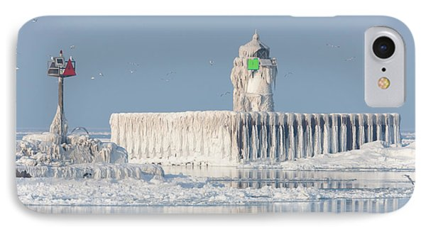 Cleveland Harbor East Pierhead Light IPhone Case by Clarence Holmes