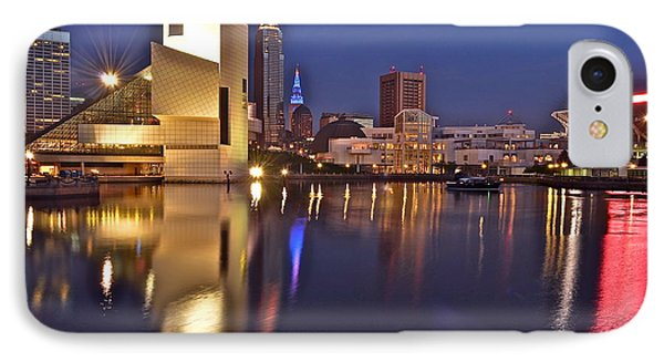 Cleveland Ohio Lakefront IPhone Case by Frozen in Time Fine Art Photography