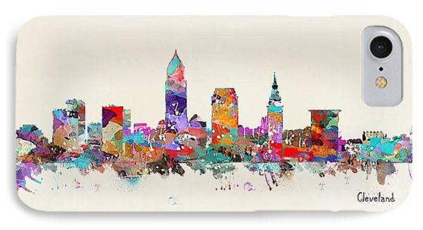 Cleveland Ohio Skyline IPhone Case by Bri B