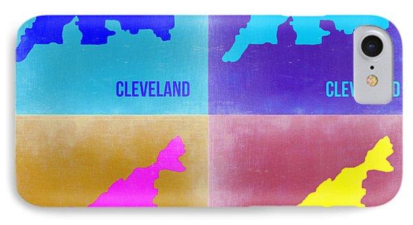 Cleveland Pop Art Map 2 Phone Case by Naxart Studio