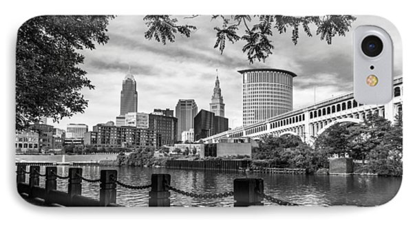 Cleveland River Cityscape IPhone Case by Dale Kincaid