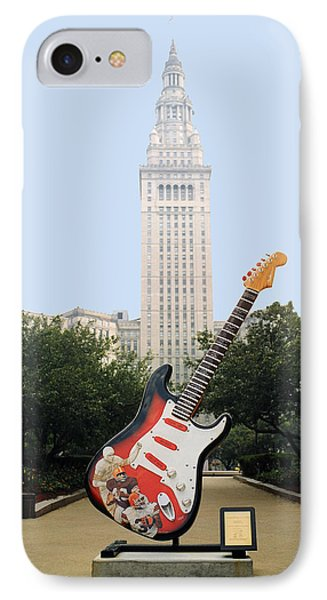 IPhone Case featuring the photograph Cleveland Rocks by Terri Harper