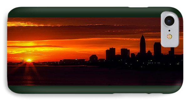 Cleveland Silhouette Phone Case by Dale Kincaid