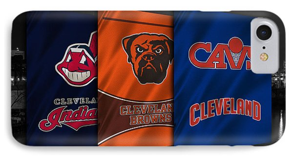 Cleveland Sports Teams IPhone Case by Joe Hamilton