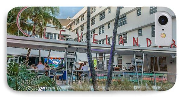 Clevelander Hotel Art Deco District Sobe Miami Florida IPhone Case by Ian Monk