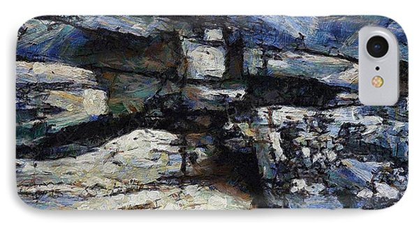 Cliff Abstract Phone Case by Gun Legler