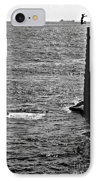 Cliff Diver Joy IPhone Case by Henry Kowalski