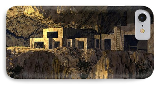 Cliff Dwellers IPhone Case by John Pangia