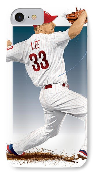 Cliff Lee IPhone Case by Scott Weigner