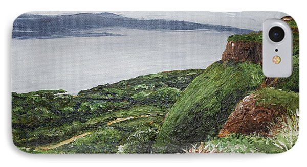 Cliffs Of Magho Phone Case by Monica Veraguth