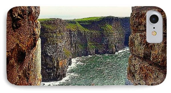 Cliffs Of Moher From O'brien's Tower IPhone Case by Tara Potts