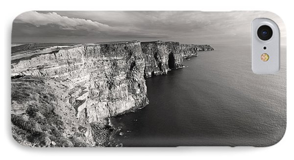 Cliffs Of Moher Ireland In Black And White IPhone Case by Pierre Leclerc Photography