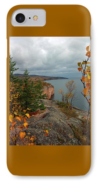 Cliffside Fall Splendor IPhone Case by James Peterson