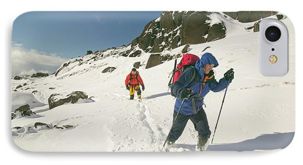 Climbers In Coire Lagan IPhone Case