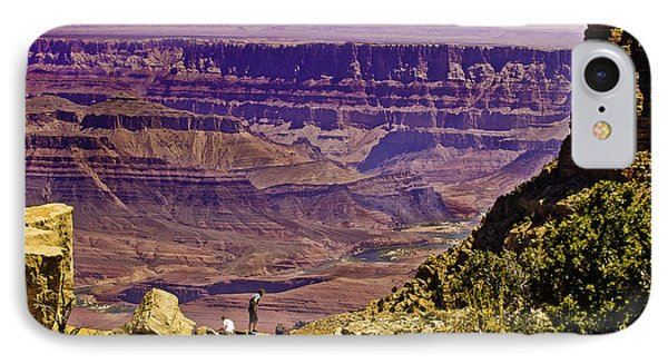 Climbing In Grand Canyon IPhone Case by Bob and Nadine Johnston