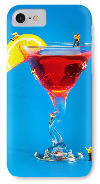Climbing On Red Wine Cup II IPhone Case by Paul Ge