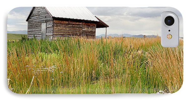 Cline Ranch Outbuilding II IPhone Case by Lanita Williams