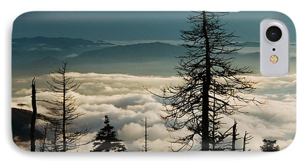 IPhone Case featuring the photograph Clingman's Dome Sea Of Clouds - Smoky Mountains by Mountains to the Sea Photo