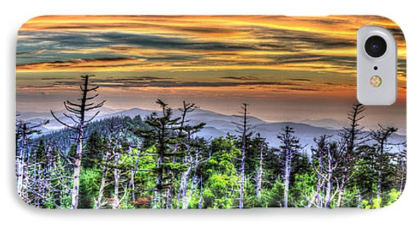Clingmans Sunset Panoramic IPhone Case by Mark Bowmer