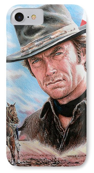 Clint Eastwood American Legend Phone Case by Andrew Read